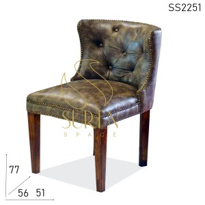 SS2251 Suren Space Tufted Design Handcrafted Restaurant Upholstered Chair