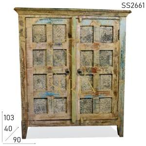 SS2661 Suren Space White Distress Panel Design Reclaimed Cabinet