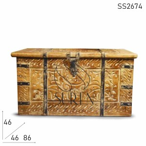 SS2674 Suren Space Hand Carved Unique & Ethnic Storage Trunk