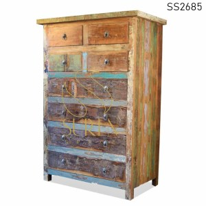 SS2685 Suren Space Reclaimed Wood High Drawer Chest