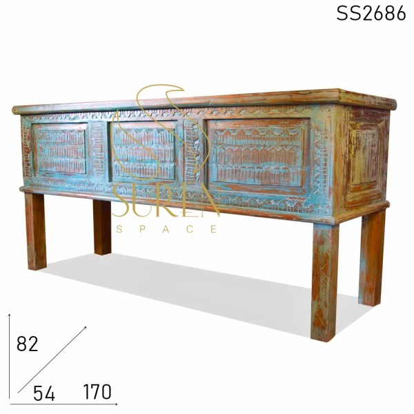 SS2686 Suren Space Blue Distress Carved Long Trunk