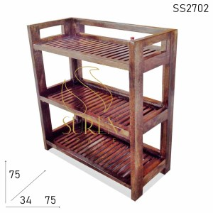 SS2702 Suren Space Folding Solid Wood Bookcase Case Cum Shoe Rack