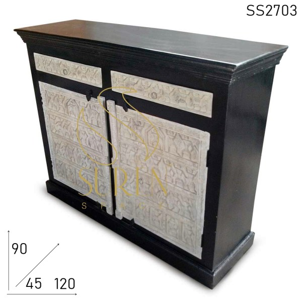 SS2703 Suren Space Dual Shade Hand Carved Cabinet Design