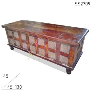 SS2709 Suren Space Light Walnut Carved Design Solid Wood Trunk Design