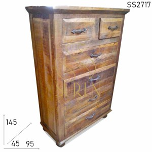 SS2717 Suren Space Heighted Solid Wood Multi Drawer Armoire Design