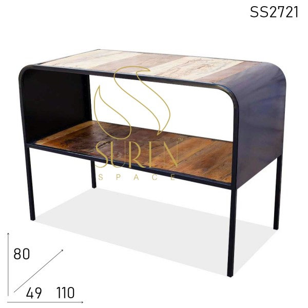 SS2721 Suren Space Reclaimed Metal Frame Console Table Design