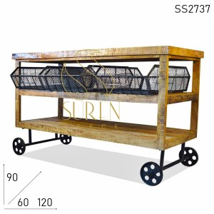 SS2737 Suren Space Four Basket Jodhpur Industrial Trolley Design