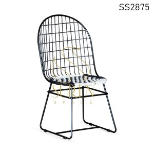 Iron Mesh Rope Seating Outdoor Dining Chair