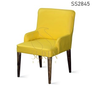 Leatherette Wooden Fine Dining Accent Rest Chair