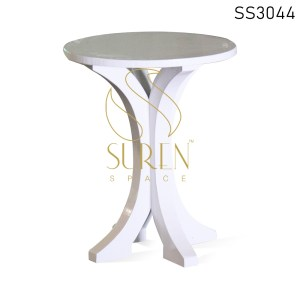 White Finish Solid Wood Coffee Table