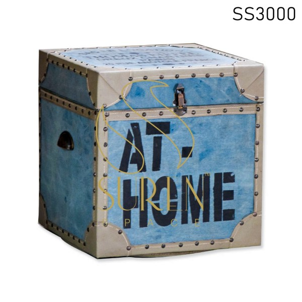 AT Home Printed Handcrafted Box Cum Stool Design
