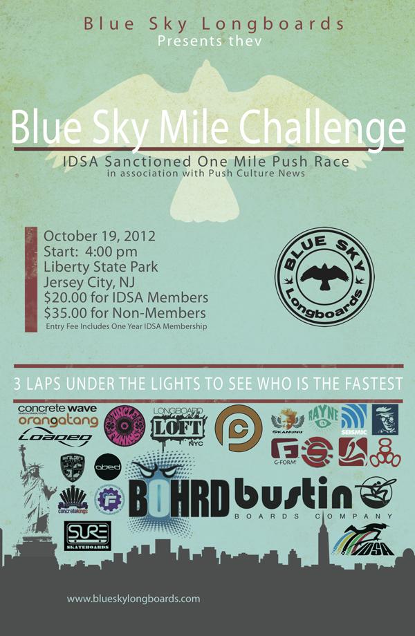 Blue Sky Mile Challenge Official Poster