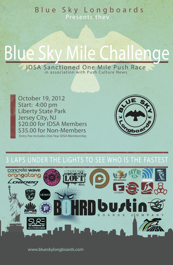 Blue Sky Mile Challenge Official Poster