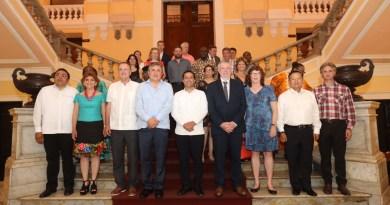 El Gobernador Mauricio Vila Dosal se reúne con el presidente de la Comisión Nacional de Derechos Humanos, Luis Raúl González Pérez