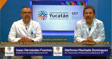 Yucatán con 36 casos positivos al Covid-19, 11 recuperados y 98 sospechosos descartados: SSY