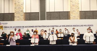 Firman el Gobernador Mauricio Vila Dosal y Ayuntamientos de 15 municipios Acuerdo para fortalecer el combate a la violencia contra las mujeres
