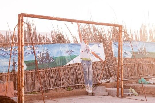 Старые футбольные ворота | Школа серфинга в Марокко Surf-Burg