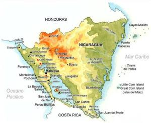 Reliefs du Nicaragua. Géographie du Nicaragua. Amérique centrale.