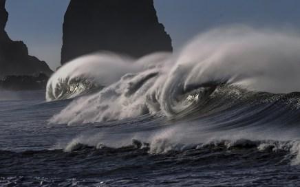 vagues puissantes