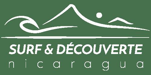 Logo Surf & découverte en blanc pour fonds sombre