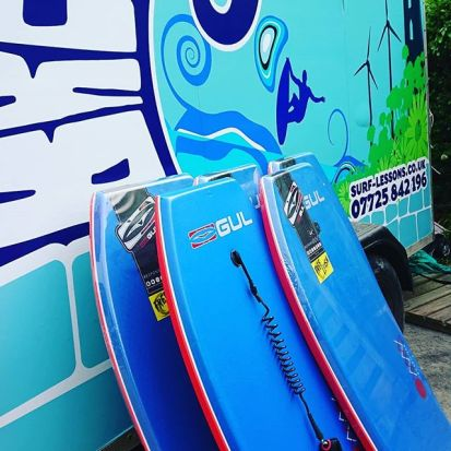Here's a few of the bodyboard available for hire incase you don't fancy standing up