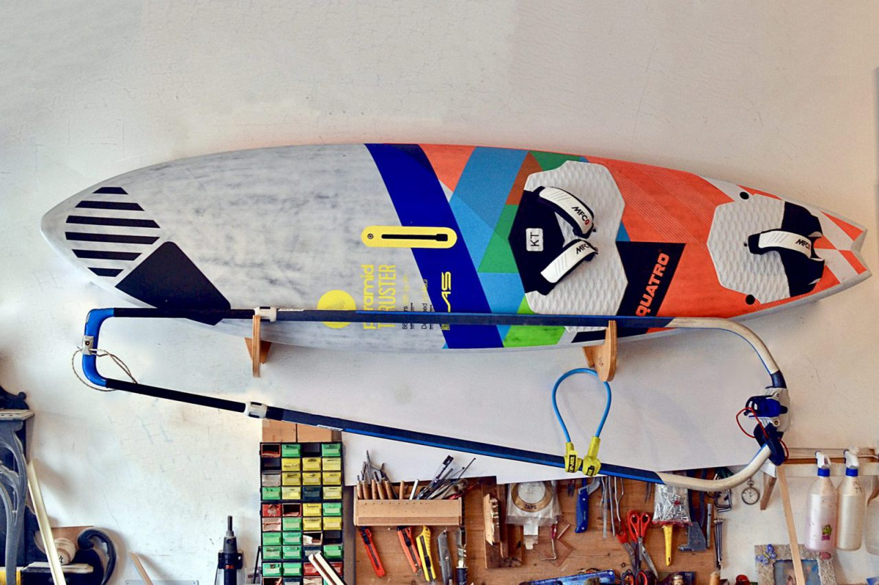 Windsurf board rack premium with boom holder -