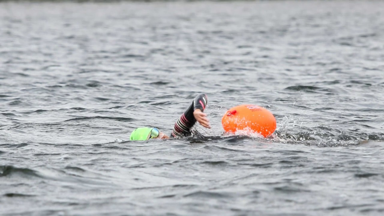 open water swimming in Westward Ho! Be visible in the open water