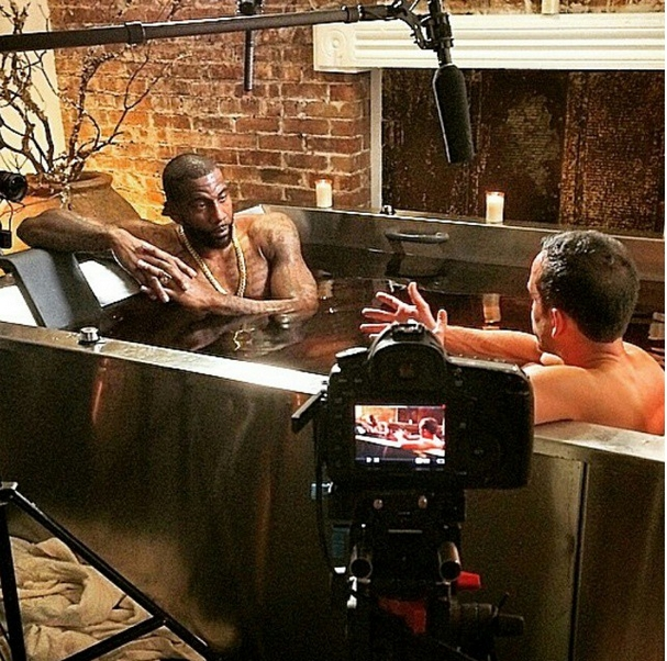 Red Wine Ritual Hot Tub with Amar'e Stoudemire