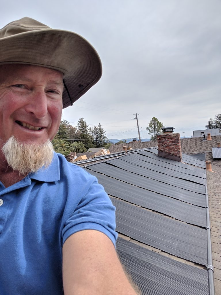Solar heating panel installation by Michael Hall of Surf City Pool Spa and Solar