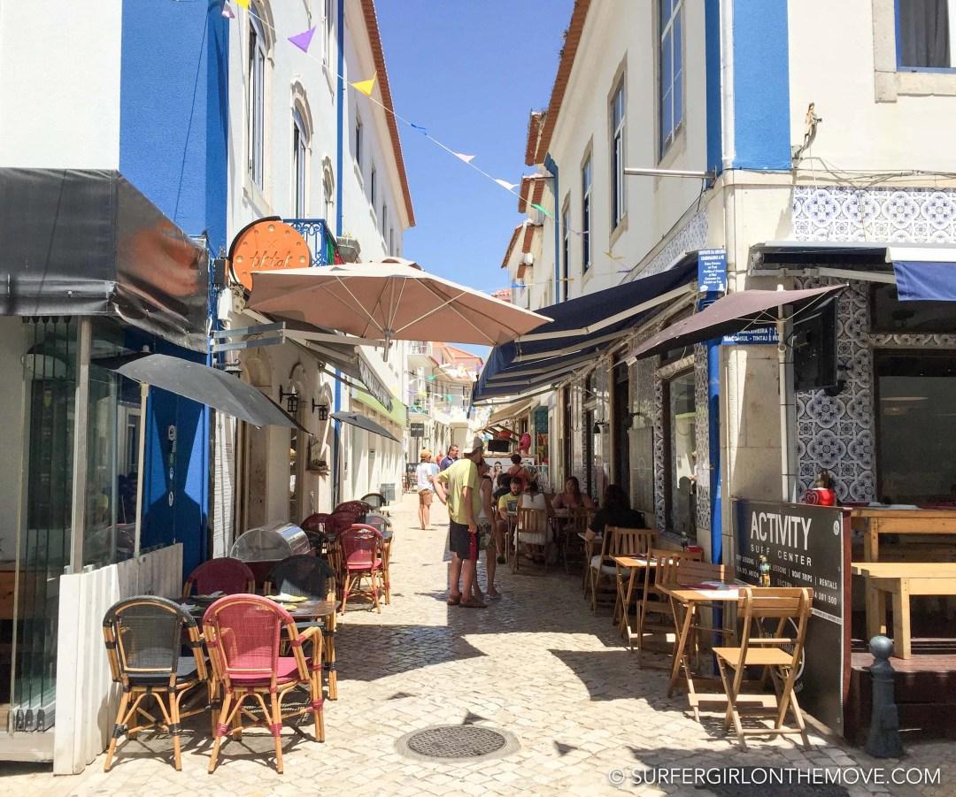 Rua dos restaurantes Ericeira