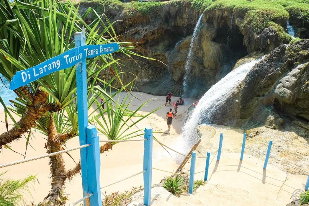 Beach Waterfall Java Indonesia