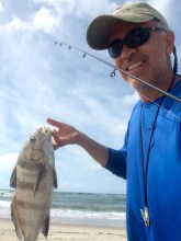 """Nice black drum on soft plastics from the same hole """"the morning after"""""""