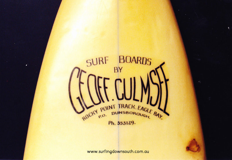 1971 Geoff Culmsee hand crafted single fin surfboard - Phil Woods collection IMG_0005