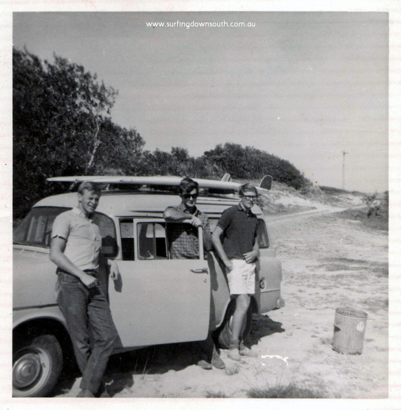 1964 Byron Bay Terry Jacks, Ernie Potter & Peter Docherty - E potter pic