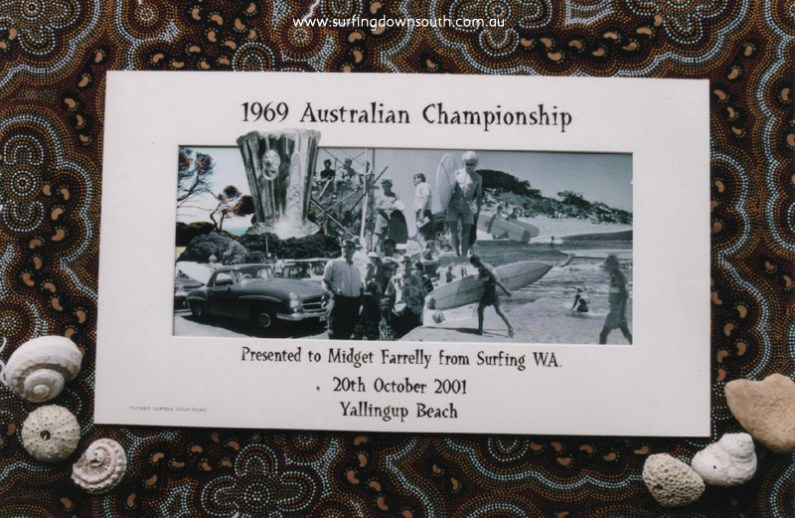 2001 Surfing WA Presentation at Yalls Beach to Midget Farrelly for 1969 Oz Comp - Sally Jones pics, Collage by Loz Smith.jpg