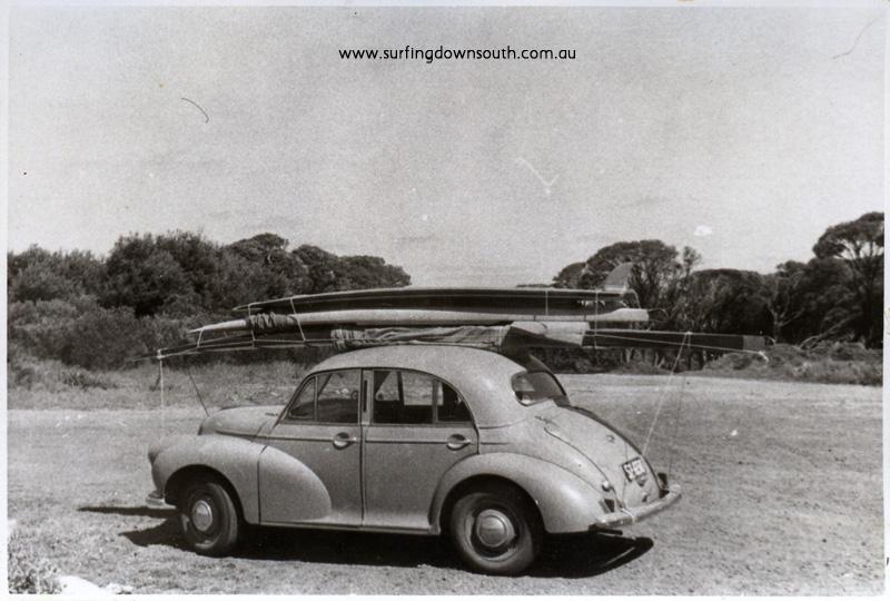 1956 Yalls car park outside tea rooms J Budge's Morris minor & boards - John Budge pic img358