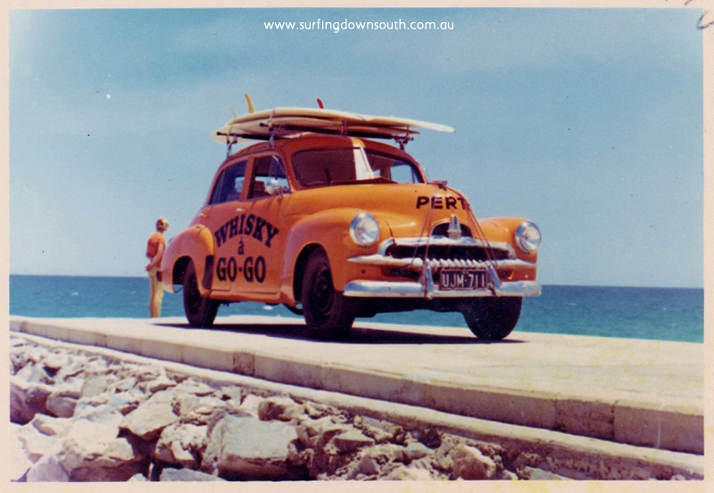 1968 Whisky a Go-Go FJ Holden on Floreat Groyne - Bruce King pic