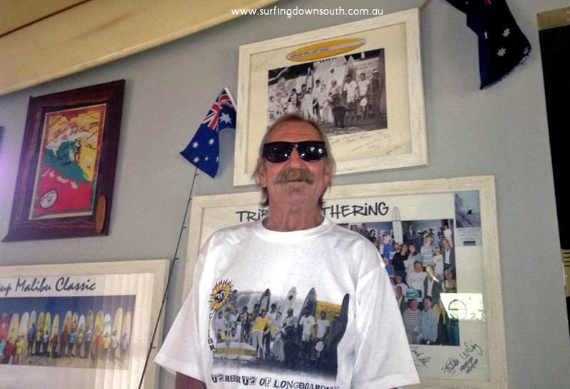 2014 Quindalup Peter Dyson in 1985 Yal Mal t-shirt Loz design & picA
