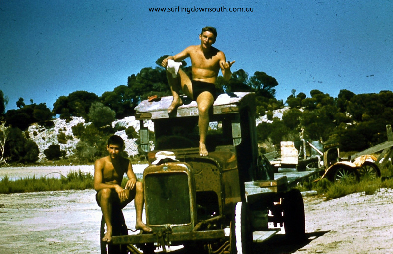 1958 Rotto old bomb at the salt works Brian Cole & Owen Oates - Brian Cole pic 012