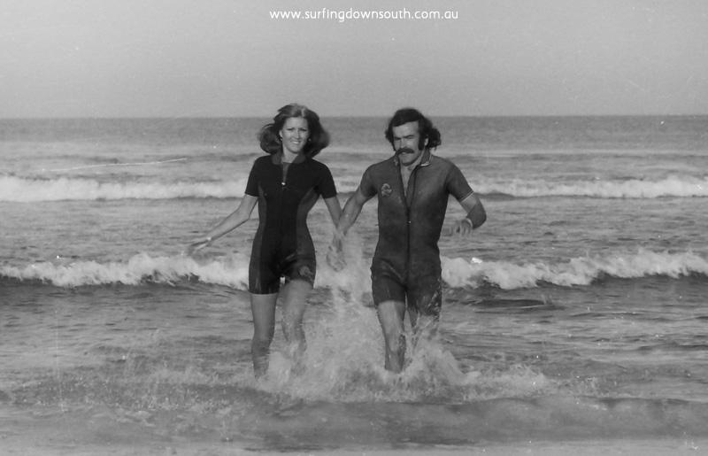 1975 Ocean Wet Suits Advt Norm & Sandie Bateman - Ric Chan 001