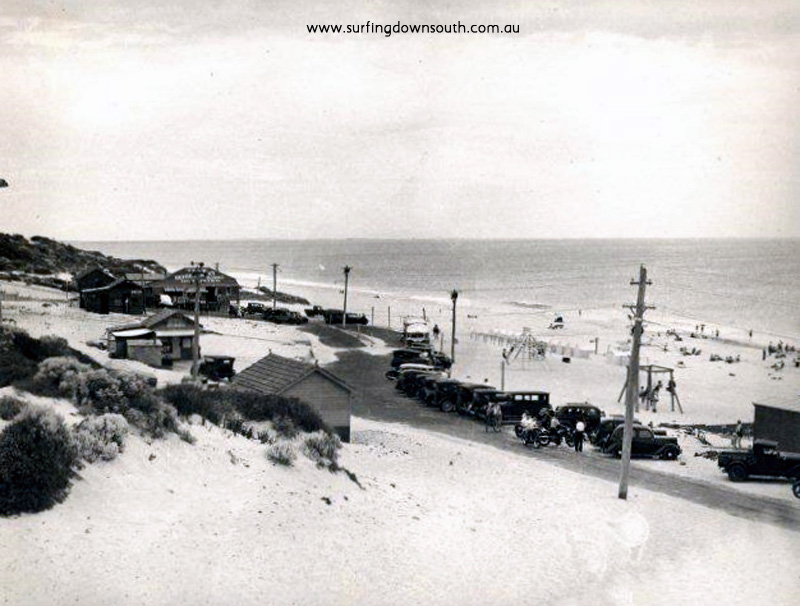 1930s City Beach foreshore road, kiosks & shop- Cambridge Library-Local Studies