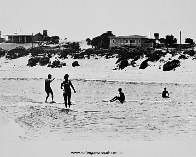 1960s Miami Bay Mandurah surfing - Len Dibben pic