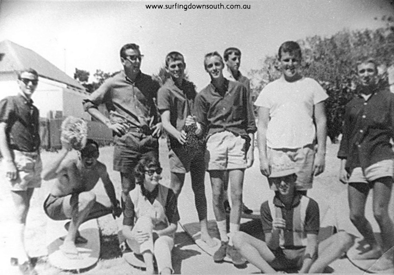 1962 Rottnest Len Dibben & Cottesloe surfing mates - Len Dibben pic