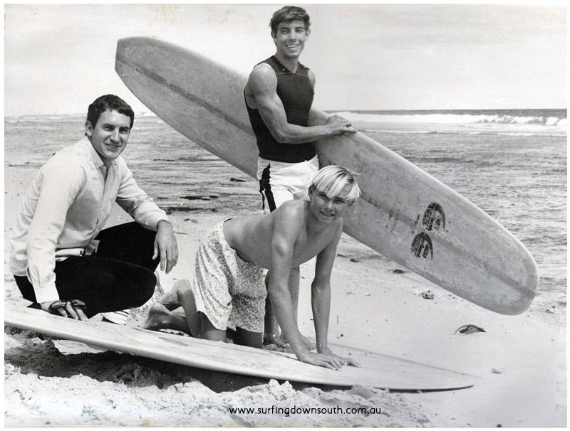 1968 Cottesloe Beach Jacko Surf Team. Jacko, Ian Cairns & Arty Sherburn - Rod Taylor  pic.IMG_001