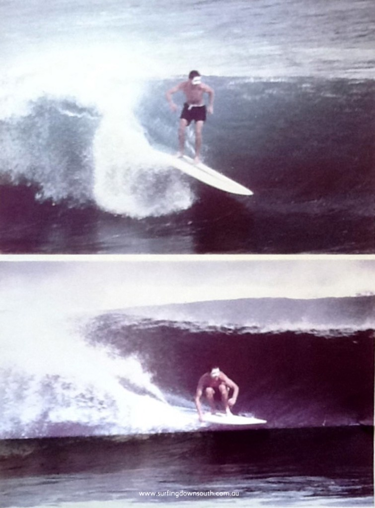 1961 Ghost at Gallows on King & Cole surfboard unknown photographer1