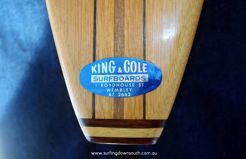 1961 King & Cole Surfboards Wembley Brian Cole pic1