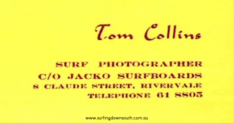 1960s Tom Collins Business Card NVE00049