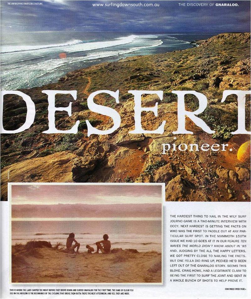 1975 Craig Howe Desert Pioneer Surfing Life 2001