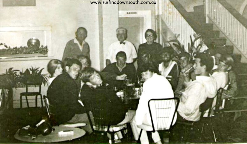 1966 Crescent Heads Country Club L-R J Balgarnie,girl,B Cummings, M Bibby,unknown,J Staley,N Peglar,A Sherburn, B Young, M Smith & girl. B Young pic