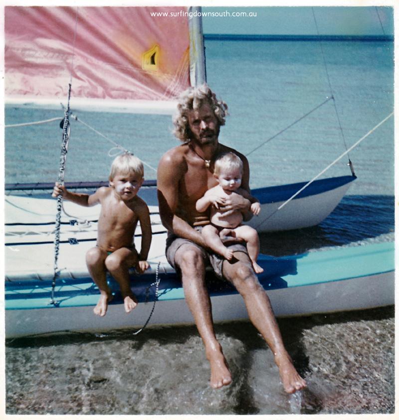 1976 Dunsborough surfcat hire Patrick, Ralph & Melanie - Redman pic IMG_01A
